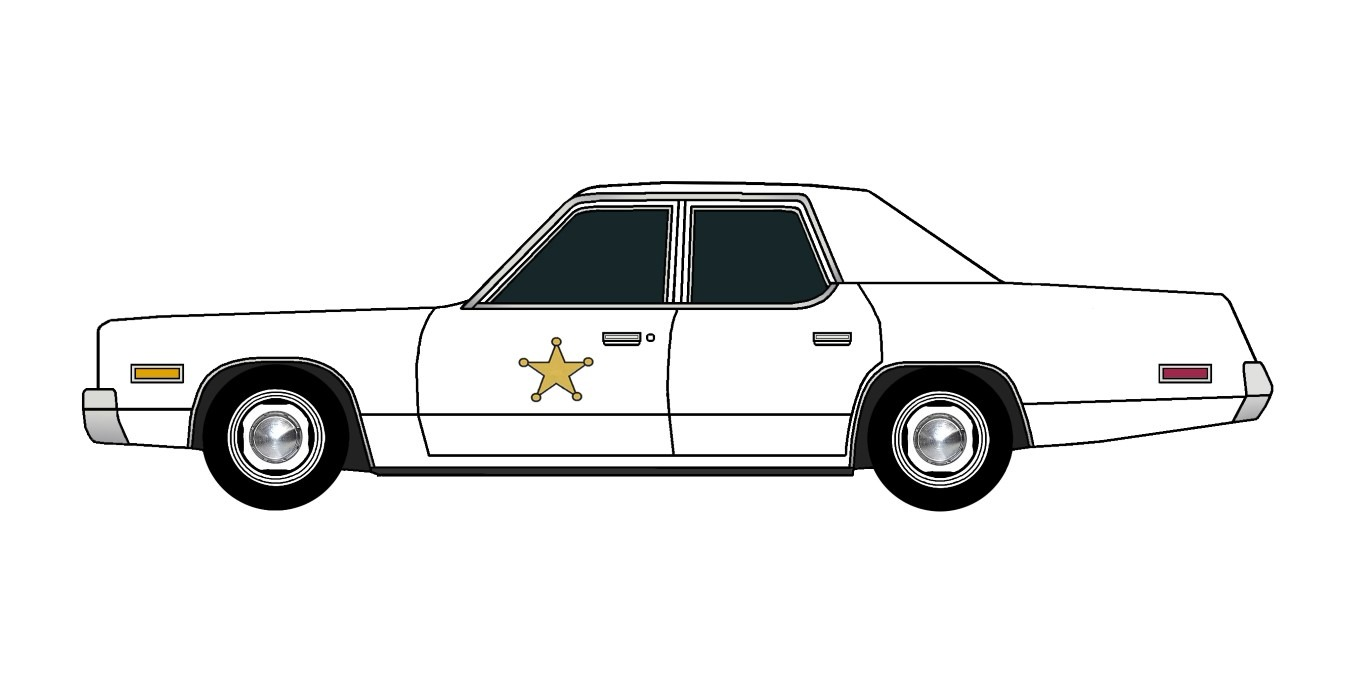 1974 Plymouth Fury Police WHITE