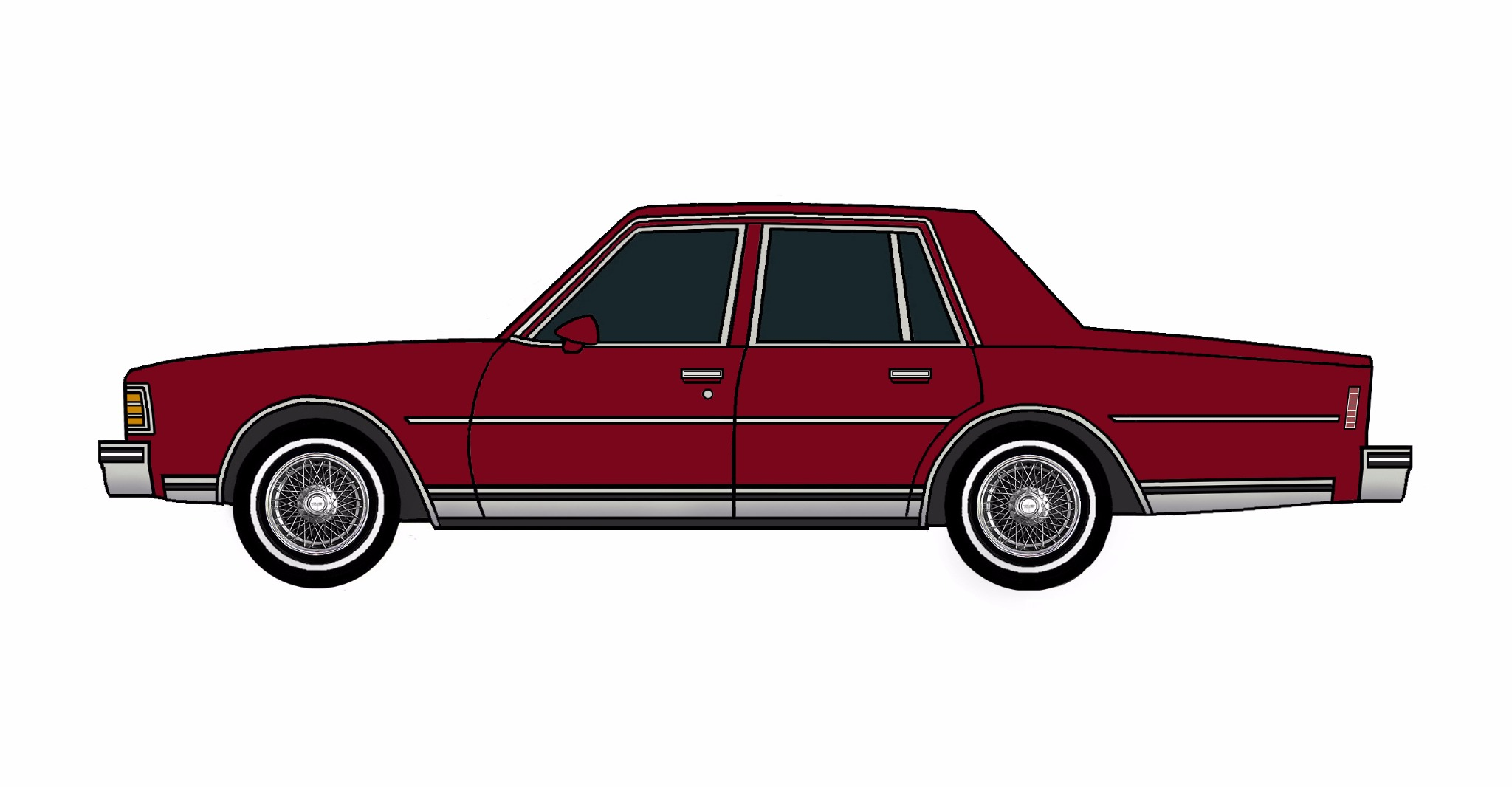 1979 Chevy Caprice DEEP BURGUNDY