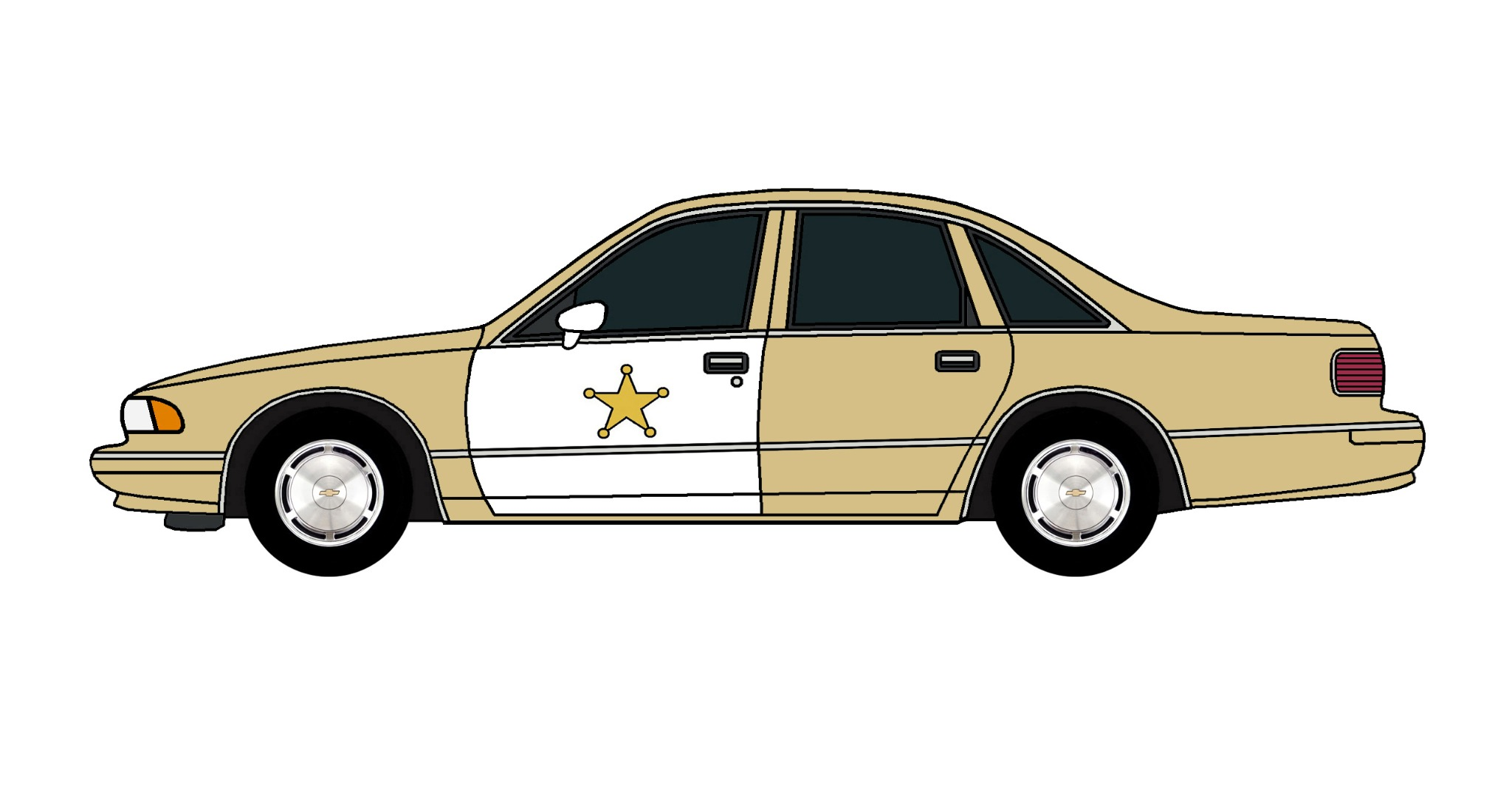 1994 Chevy Caprice Police Car TAN