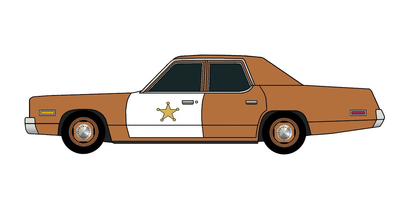 1975 Dodge Monaco Police COPPER