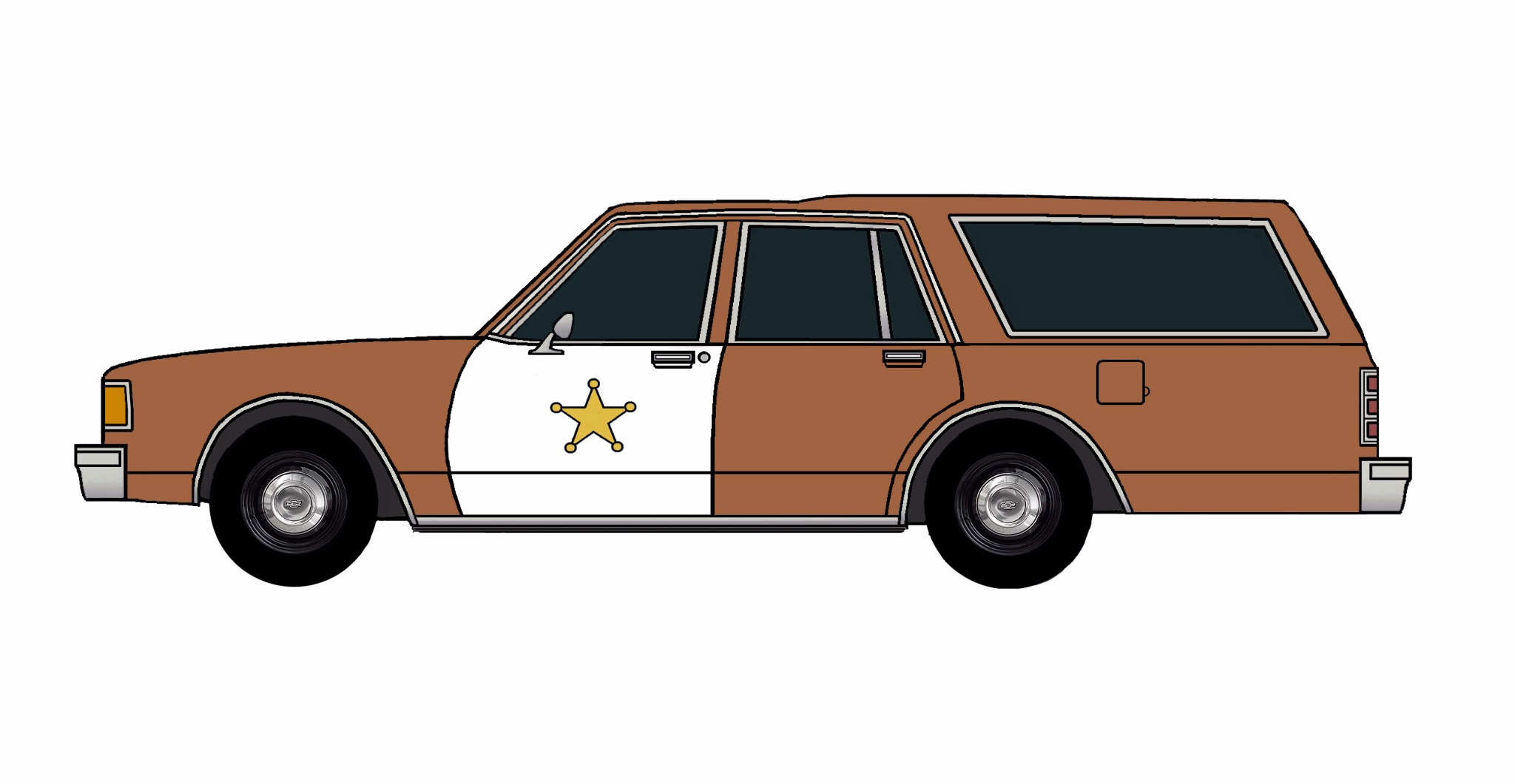 1986 Chevy Caprice 9C1 Wagon SIENNA BROWN