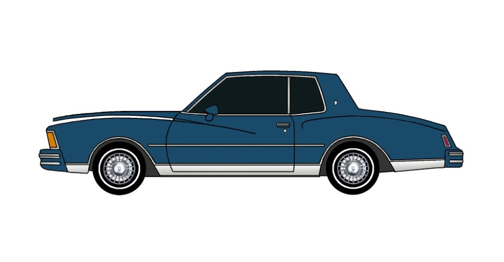 1978 Chevy Monte Carlo MIDNIGHT BLUE