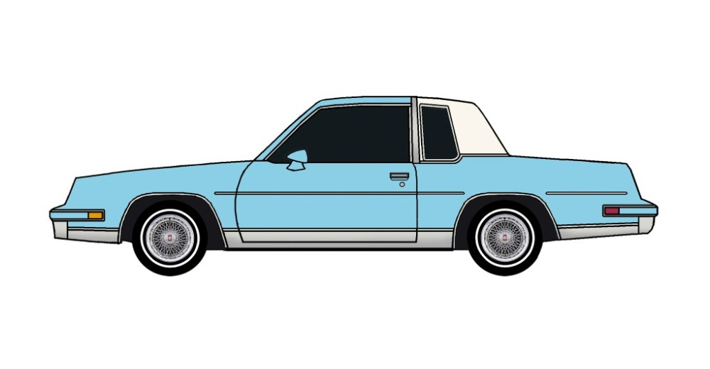 1982 Oldsmobile Cutlass Calais SKY BLUE