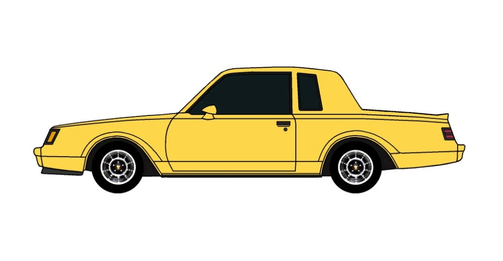 1987 Buick Grand National CANARY YELLOW
