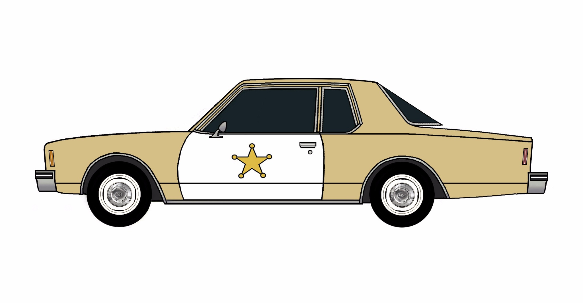 1978 Chevy Impala Police Coupe DESERT TAN