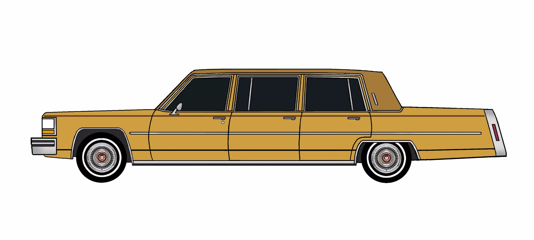 1981 Cadillac Fleetwood Funeral Limo INDIAN YELLOW
