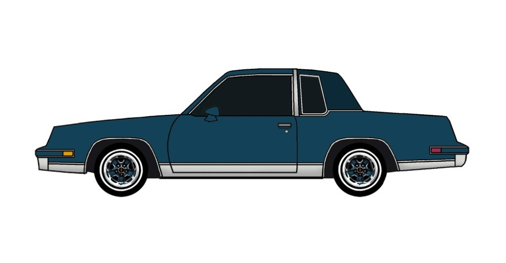 1986 Oldsmobile Cutlass MIDNIGHT BLUE