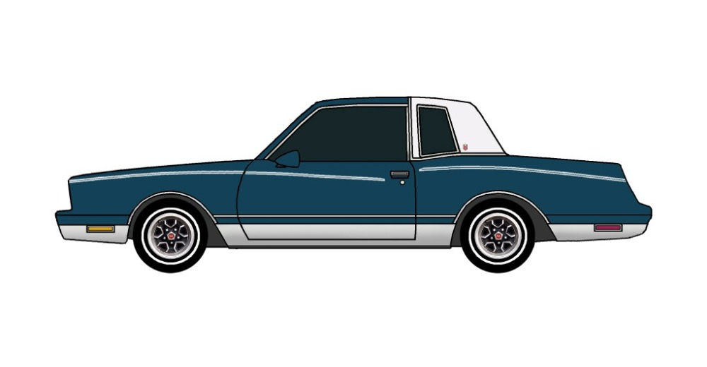 1981 Chevy Monte Carlo MIDNIGHT BLUE