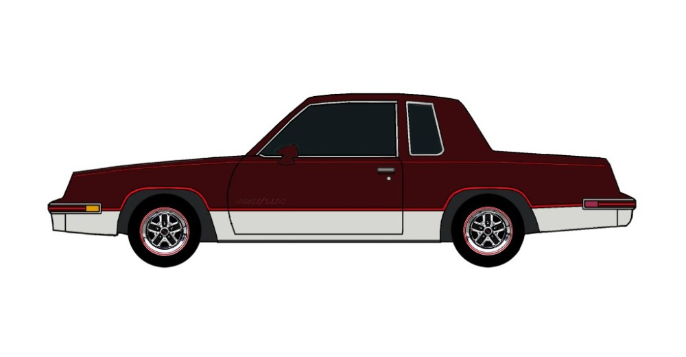 1984 Oldsmobile Cutlass 442 MAROON