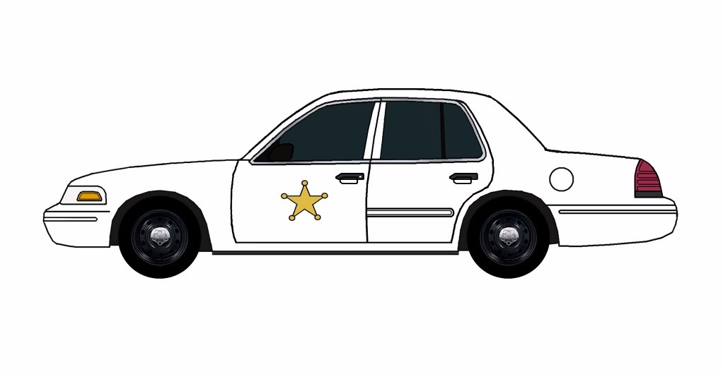 2011 Ford Crown Victoria Police Car WHITE