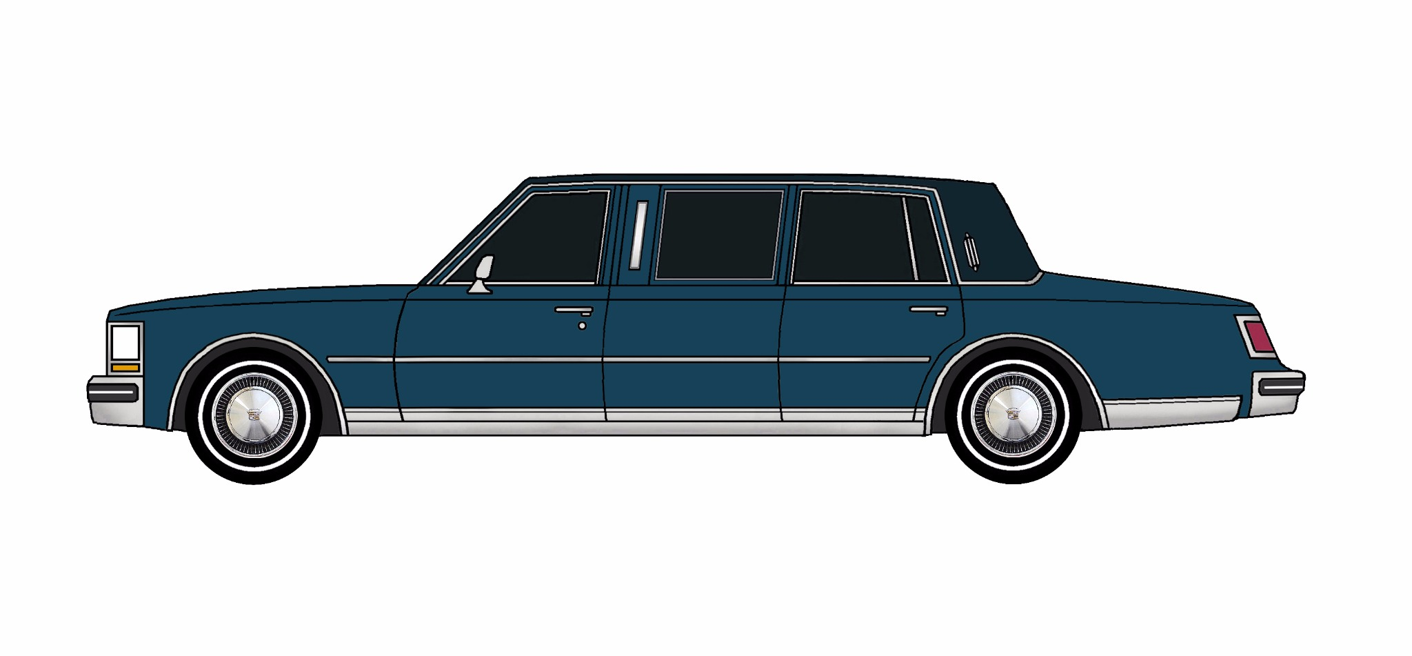 1978 Cadillac Seville Limo MIDNIGHT BLUE