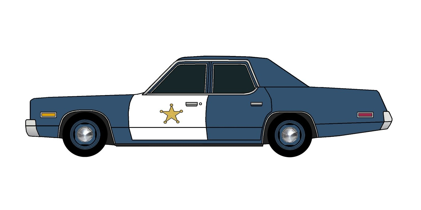 1974 Plymouth Fury Police ATLANTIC BLUE