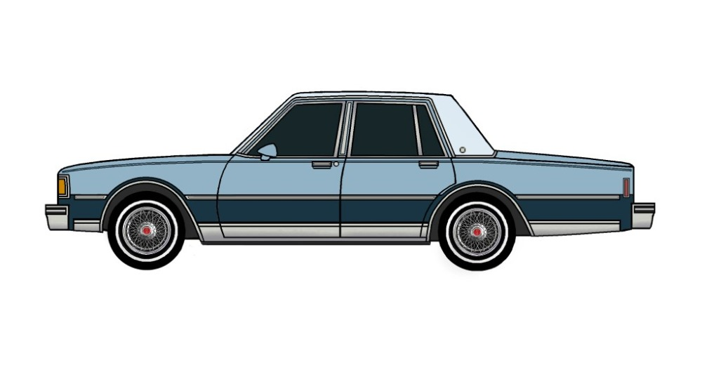 1983 Pontiac Parisienne LIGHT BLUE & MIDNIGHT BLUE