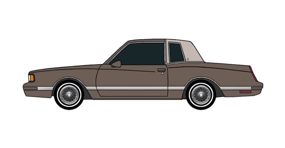 1987 Chevy Monte Carlo LS FRENCH GREY