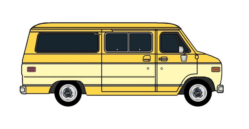 1977 Chevy G20 Beauville CANARY YELLOW & BUTTERMILK