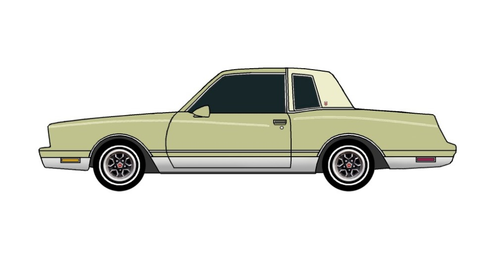 1981 Chevy Monte Carlo OLIVE GREEN