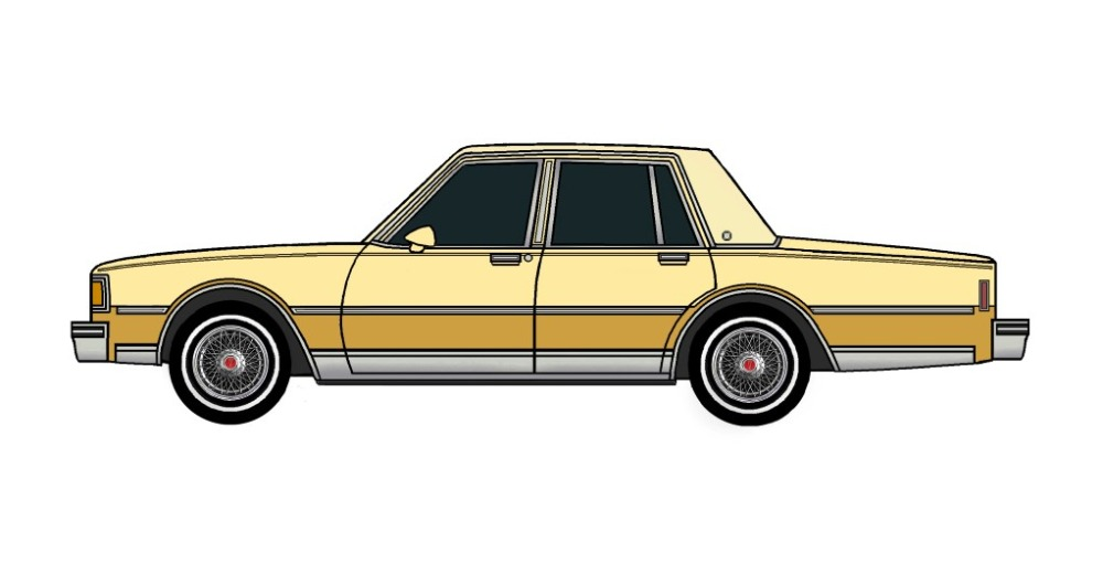 1983 Pontiac Parisienne BUTTERMILK & INDIAN YELLOW