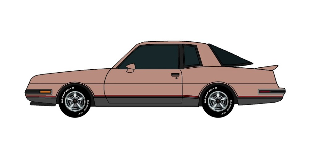 1986 Pontiac Grand Prix 2+2 CLAY ROSE