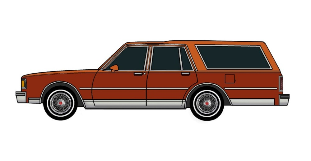 1983 Pontiac Parisienne Safari Wagon MANDARIN ORANGE & DARK CARAMEL