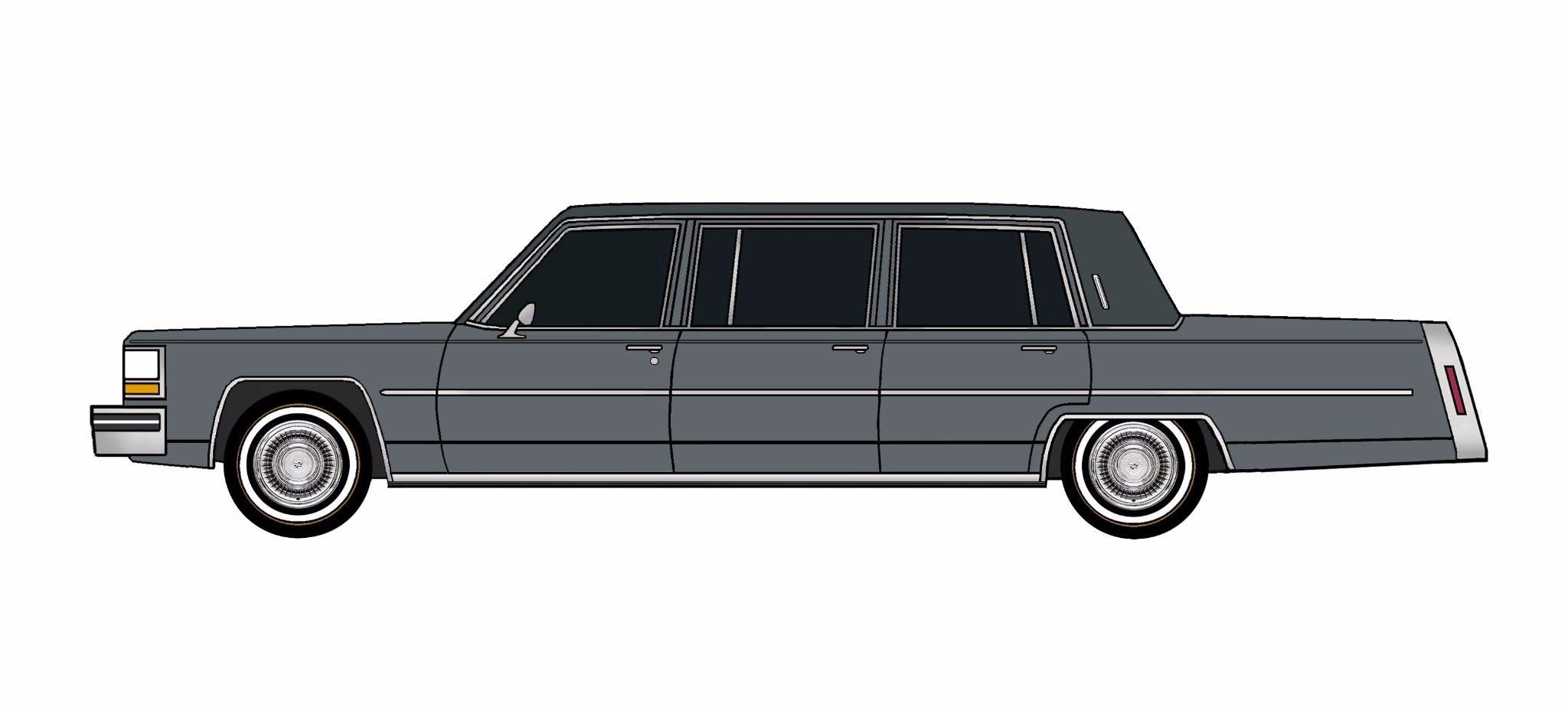 1980 Cadillac Fleetwood Funeral Limo CHARCOAL