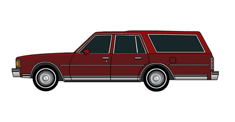 1977 Chevy Caprice Wagon BURGUNDY & TUSCAN RED