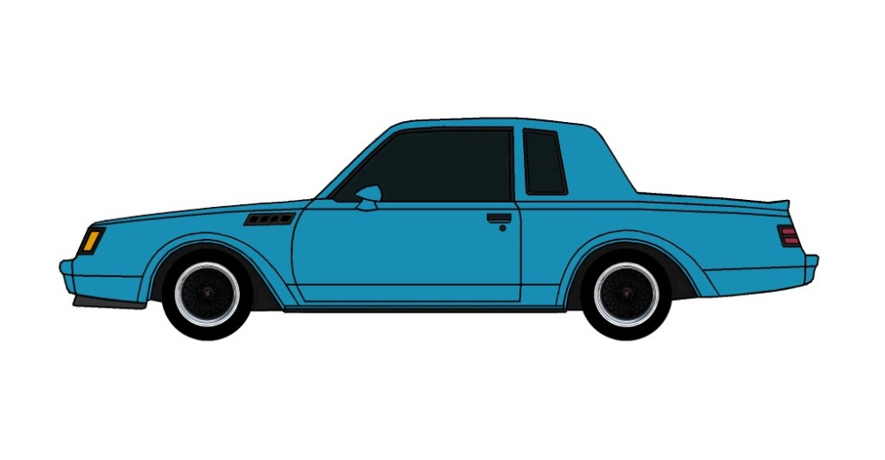 1987 Buick Grand National GNX SEA BLUE