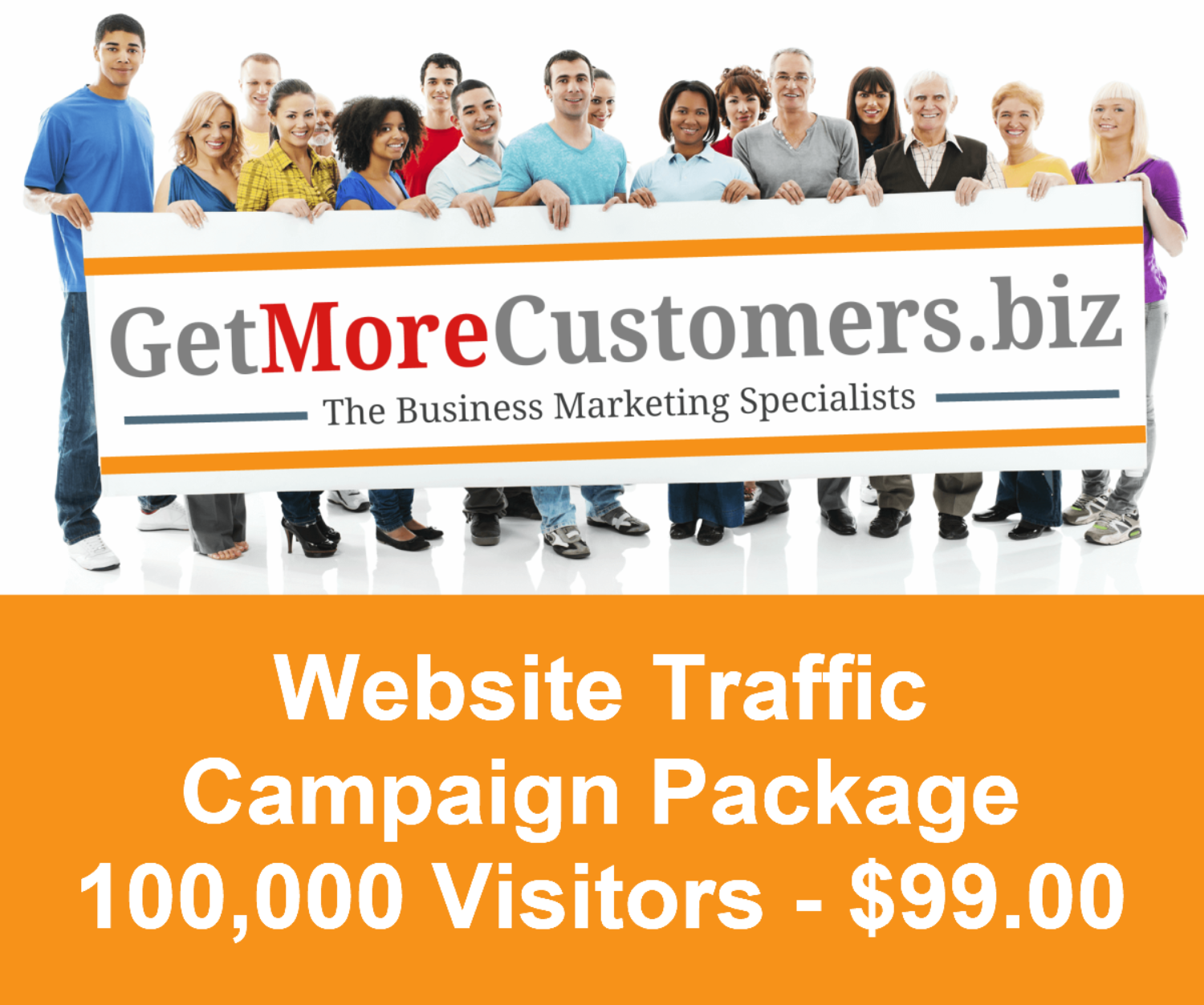 100,000 Website Visitors - $149.00 (30-60 Day Delivery)