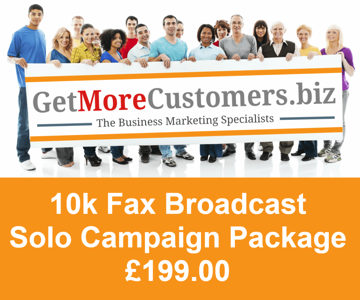 10,000 Solo Fax Broadcast Package - £199.00