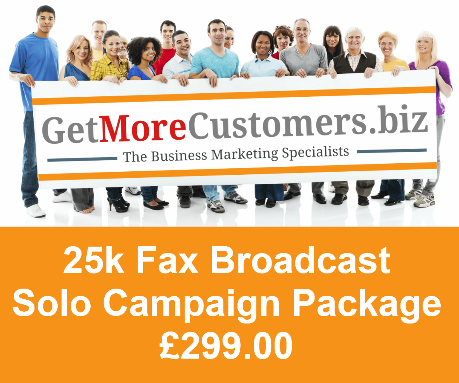 25,000 Solo Fax Broadcast Package - £299.00