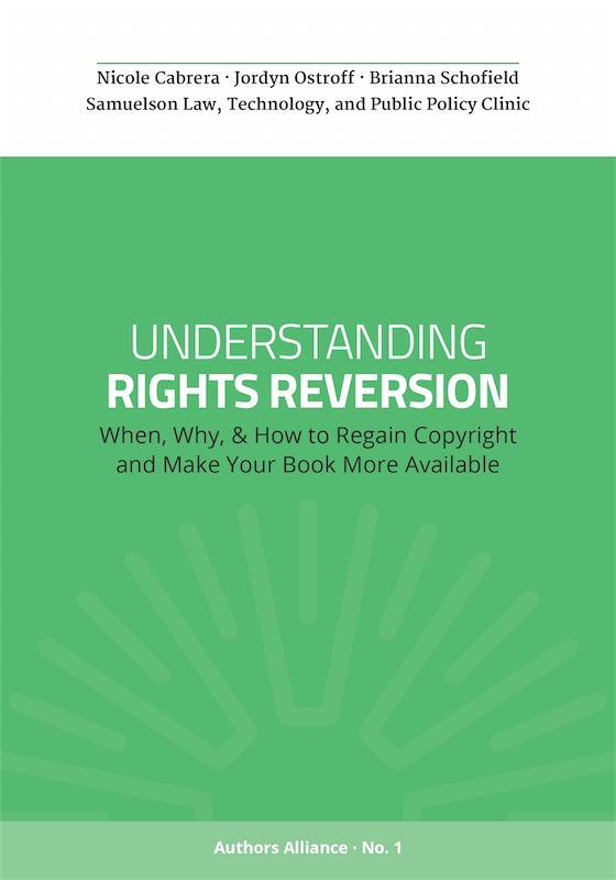 Authors Alliance Guide to Rights Reversion