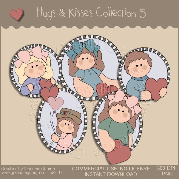 Hugs & Kisses Valentine Country Graphics Collection Vol. 5