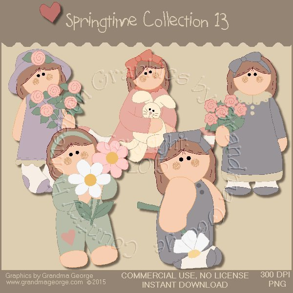 Country Springtime Graphics Collection Vol. 13
