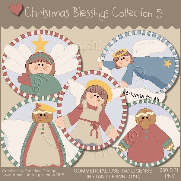 Christmas Blessings Graphics Collection Vol. 5