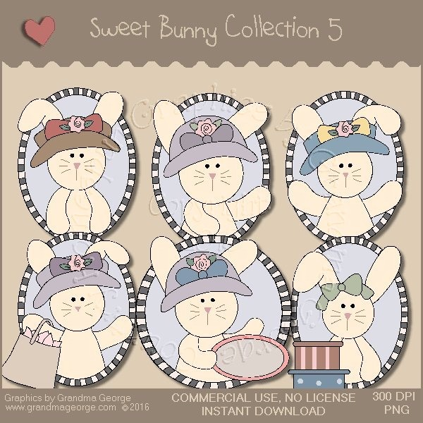 Sweet Bunny Country Graphics Collection Vol. 5