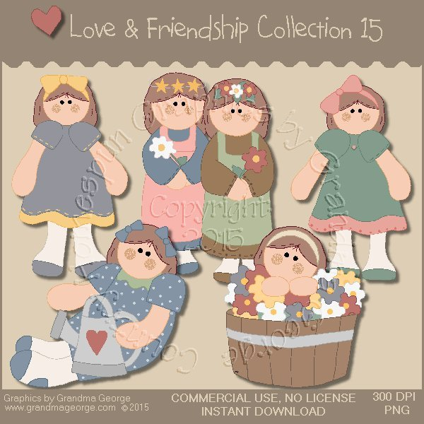 Love & Friendship Graphics Collection Vol. 15