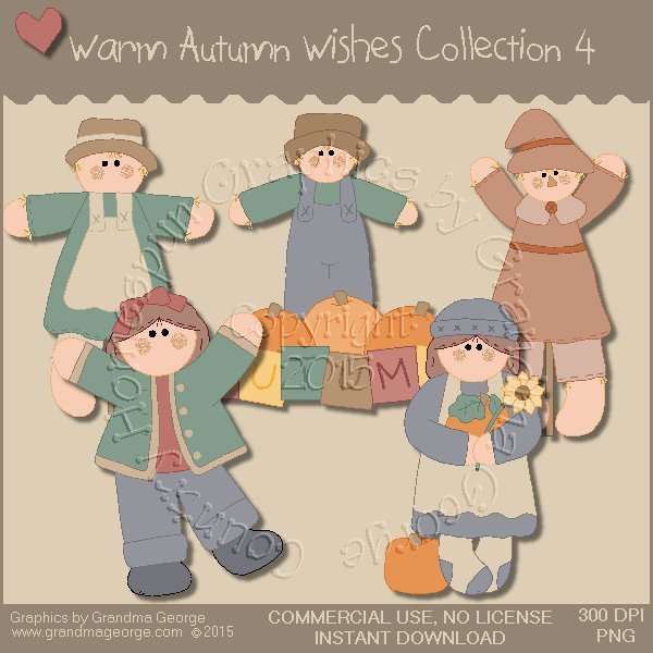 Warm Autumn Wishes Graphics Collection Vol. 4