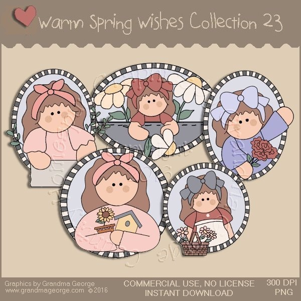Warm Spring Wishes Country Graphics Collection Vol. 23