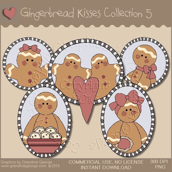 Gingerbread Kisses Country Graphics Collection Vol. 5