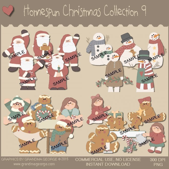 Homespun Christmas Collection Vol. 9