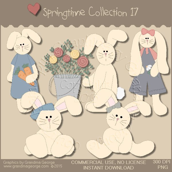 Country Springtime Graphics Collection Vol. 17
