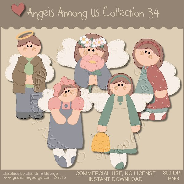 Angels Among Us Graphics Collection Vol. 34
