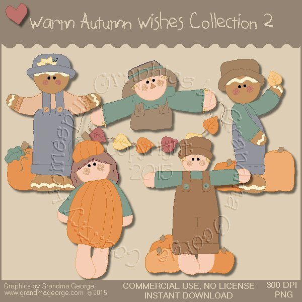 Warm Autumn Wishes Graphics Collection Vol. 2