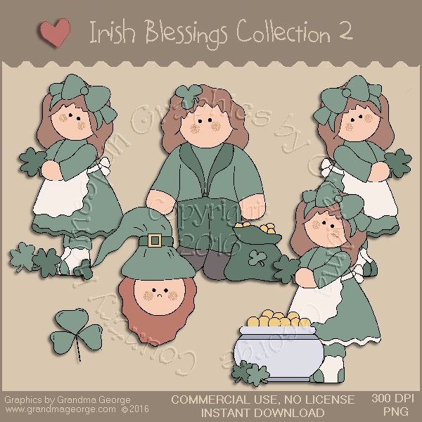 St. Patrick's Day Irish Blessings Country Graphics Collection Vol. 2