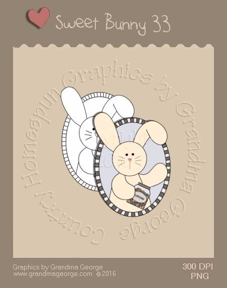 Sweet Bunny Single Country Graphic 33