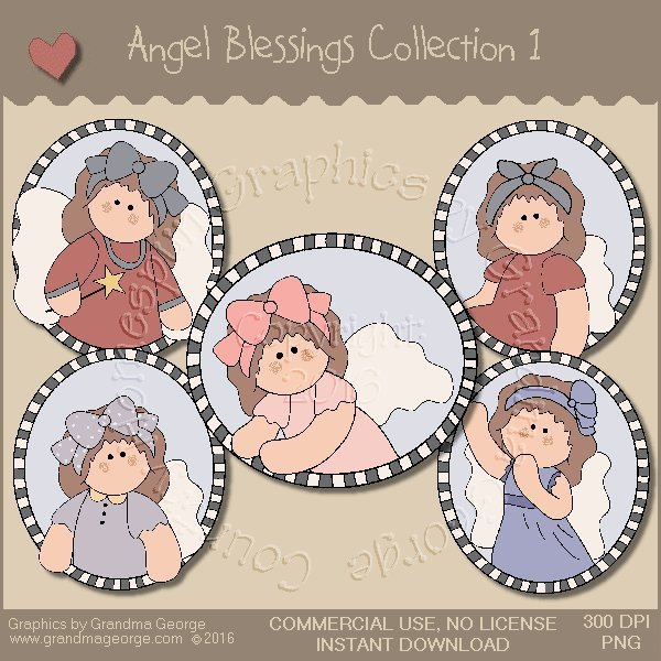 Angel Blessings Country Graphics Collection Vol. 1