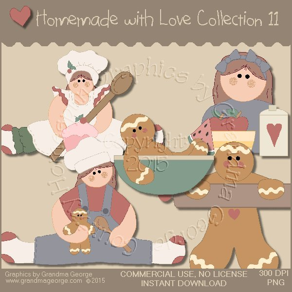 Homemade with Love Graphics Collection Vol. 11