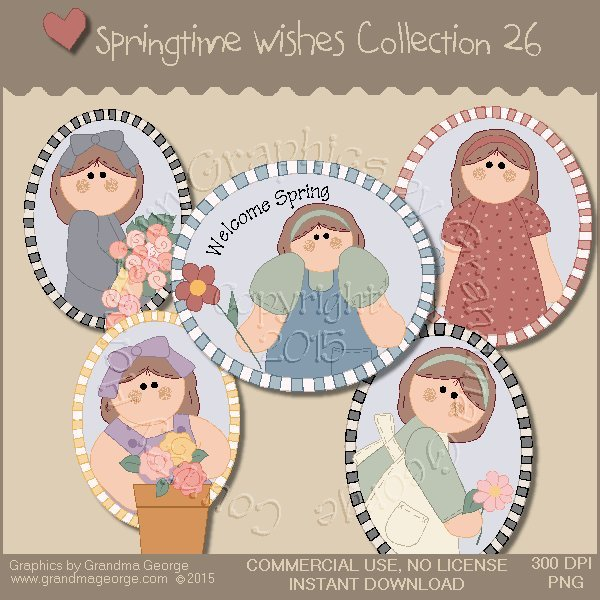 Country Springtime Wishes Graphics Collection Vol. 26