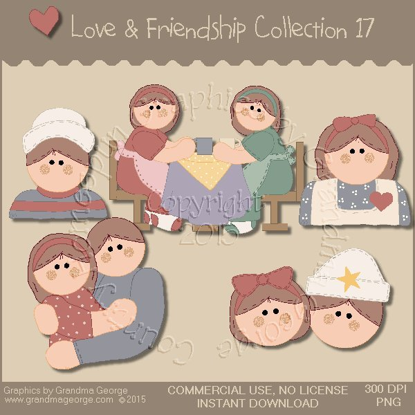 Love & Friendship Graphics Collection Vol. 17