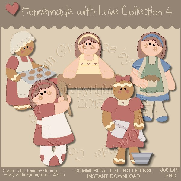 Homemade with Love Graphics Collection Vol. 4