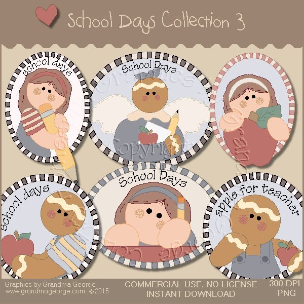 School Days Country Graphics Collection Vol. 3